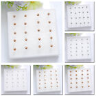 Small Stud Earrings Round Simple 10 Pairs Silver/rose Glod Ball Bead Ear 2/3/4mm