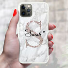 Personalised Marble Phone Case Cover For Apple Samsung Initial Name - Ref 06