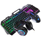 Gaming Keyboard Mouse Set Computer Game PC Home USB Wired LED Backlight Desktop