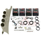 White MaxTow 4 Gauge Diesel Kit + Taupe Quad Pod for 06-09 Dodge Ram Cummins