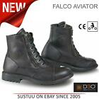 Falco Aviator Motorcycle/ Bike Men's Waterproof Leather Boots│Black│All Sizes