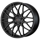 "4-KMC KM713 Alkaline 20x8.5 5x4.5"" +35mm Black Wheels Rims 20"" Inch $1477.14 CAD on eBay"