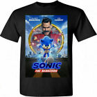 New Sonic the Hedgehog Movie Jim Carrey 2020 Poster T-shirt SIZE S-3XL image