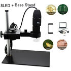 Digital 0-1000X USB 8 LED Microscope with Stand for Wins Android Phones Z8I2