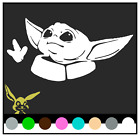 BABY YODA Vinyl Decal Mandalorian (Pick Color/size) Sticker The Kid Star Wars $1.99 USD on eBay
