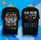 Blake Shelton Friends And Heroes Tour 2020 Merch Concert T-Shirt S-5XL image