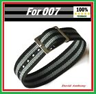 FOR JAMES BOND 007 MILITARY STYLE PULL THROUGH 18mm ONE PIECE NYLON WATCH STRAP £3.95 GBP on eBay