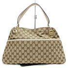 Gucci Hand Bag Cream GG Canvas 825568