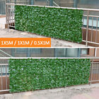 Au 1m Artificial Hedge Leaves Faux Ivy Leaf Privacy Fence Screen Garden Decor
