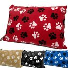 Warm Soft Fleece Dog Pet Bed Cover Large Pillow Filled Option - Zip & Washable