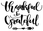 """Decal """"thankful & Grateful"""" Motivational Quotes"""