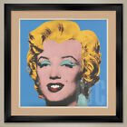 "32W""x32H"": SHOT BLUE MARILYN, 1964 by ANDY WARHOL, DOUBLE MATTE, GLASS & FRAME"