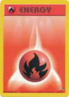 Fire Basic Energy Common Pokemon Card Gym Heroes 128/132