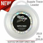 Black Magic Supple Trace Leader│Ultra Clear│Fishing Accessory│White│20 to 200lb