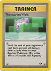 Transparent Walls Trainer Common Pokemon Card Gym Challenge 125/132