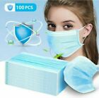 50Pcs DISPOSABLE POLLUTION FACE MASK DENTAL MOUTH 3 PLY & EAR LOOP MASKS LOT