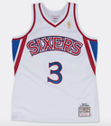 Allen Iverson Philadelphia 76ers Hardwood Classics Throwback NBA Swingman Jersey on eBay