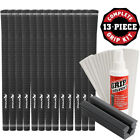 Karma Velour Black Golf Club Grip Kit (13 Grips, Solvent & Double-Sided Tape)