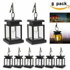 Waterproof Solar Powered Lantern Hanging Light Outdoor Garden LED Candle Lamp UK