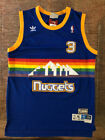 NWT Allen Iverson #3 Denver Nuggets BLUE MEN'S Sewn Throwback Basketball Jersey