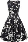 Belle Poque Homecoming 1950s Vintage Sleeveless Keyhole Flared A-Line Dress