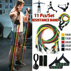 11pc Resistance Bands Set Exercise Fitness Tube Strength Training Workout Bands image