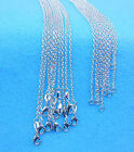 """Wholesale 10PCS 16-30"""" Jewelry 925 Silver Plated Rolo """"O""""Words Chain Necklace"""
