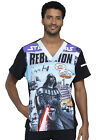 Darth Vader Cherokee Scrubs Tooniforms Star Wars Mens V Neck Top TF708 SREL $24.99 USD on eBay