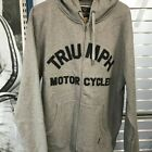 Triumph Motorcycle Men's Lavenham Zip Up Sweatshirt: Ships FREE!!
