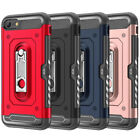 For iPhone 7 8 Plus X XR XS Max Shockproof Card Slot Kickstand Hard Case Cover