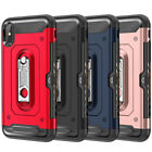 For iPhone 7 8 Plus X XR XS Shockproof Card Slot Kickstand Hard Case Cover
