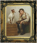 Brown Mutual Admiration 1898 Wood Framed Canvas Print Repro 8x10