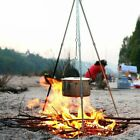 Camping Tripod Hanging Stove Durable Campfire Solid Metal Outdoor Picnic Cooking