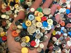 New Lots Of 100 Buttons Assorted Mixed Color And Sizes Bulk 1/4 Inch To 5/8 In.