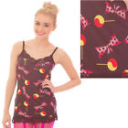 LACE DRESS VEST TOP BLACK BOW TIE & LOLLIPOPS PRINT GOTHIC ALTERNATIVE