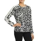 Single Thread Womens Animal Print Ruffle Sleeves Lace Inset Blouse Top BHFO 5141 <br/> Guaranteed Authentic  Blouse Sugg. Price:  $58.00