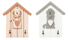 Key Holder Storage Hooks Wall Mounted Dog Design Animal Home Decor Accessory