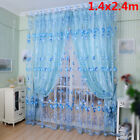 Sheer Voile Windows Curtains Drape Panel Scarf Floral Tulle Valance Homes Decor