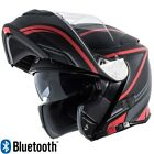 Torc T28B Modular Motorcycle Helmet Dual Visor with Bluetooth Red Vapor DOT