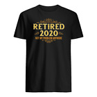 Retired 2020, Retirement Gifts T-shirt S-3XL US Cotton Unique 2020 image