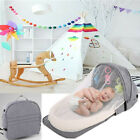 Baby Travel Portable Bed Crib Newborn Multi-function Foldable W/Toy Mosquito Net