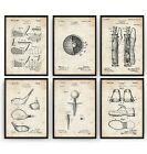 Golf Set Of 6 Patent Prints V2 - Golfer Poster Art Decor Dad Gift - Unframed
