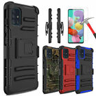 For Samsung Galaxy A51 Case Defender Holster Belt Clip Cover w/Screen Protector