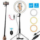 "Dimmable 10"" Selfie LED Ring Light with Stand Phone Holder Camera Makeup Video"