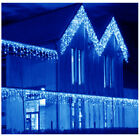 13~130FT Outdoor LED Curtain Icicle String Light Wedding Party Xmas 8-Modes BLUE