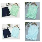 Kids Boys Quick Drying Sports Set Tank Tops+Shorts Tracksuit Activewear Outfit