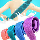 Silicone Exfoliating Bath Shower Body Brush Bath Belt Wash Clean Back Brush Belt