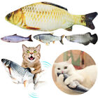 Cat Dog Catnip Doll Realistic Plush Electric Fish USB Charging Pets Chewing Toy