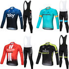 Men's Cycling Apparel Bicycle Softy Jersey Long Sleeve Coat Top Bib Pants Sets on eBay