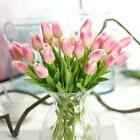 10X Artificial Tulip Flower PU Silk Bouquet Real Touch Room Home Wedding Decor